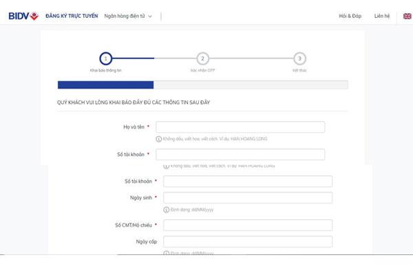 Điền thông tin vào form
