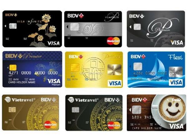 Một số thẻ tín dụng hiện đang được phát hành tại Việt Nam