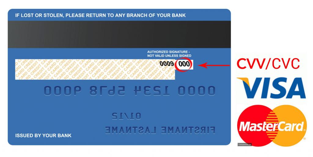 Mã số bảo mật của thẻ tín dụng vô cùng quan trọng