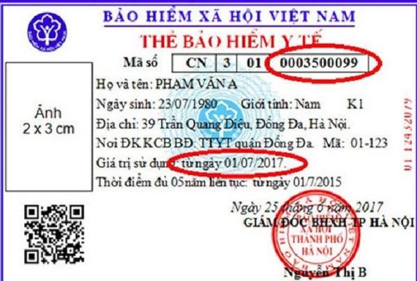 10 số cuối trên thẻ bảo hiểm y tế là mã số BHXH
