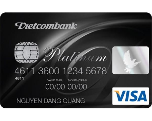 Thẻ ATM Vietcombank Platinum có hạn mức rút tiền tối đa một ngày cao hơn các loại thẻ khác